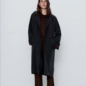 ZARA Flowy Trench Coat with Pockets